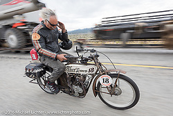 Doug Feinsod of California riding his 1913 Thor during the Motorcycle Cannonball Race of the Century. Stage-10 ride from Pueblo, CO to Durango, CO. USA. Tuesday September 20, 2016. Photography ©2016 Michael Lichter.