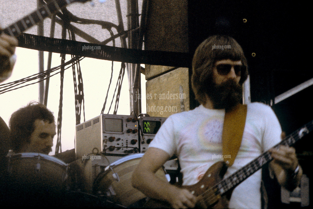 Grateful Dead Live at Dillon Stadium, Hartford, CT 31 July 1974. Featuring the Wall of Sound. Summer weekday show, one of the longest ever played by The Dead. Photo is focused on the oscilloscopes behind Phil.
