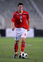 Gareth Barry<br /> England 2008/09 <br /> Andorra V England (0-2) World Cup 2010 Qualifying Match <br /> at Monjiic Olympic Stadium in Barcelona 06/09/08<br /> Photo Robin Parker Fotosports International
