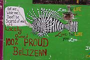 Sign<br /> Caye Caulker<br /> Ambergris Caye<br /> Belize<br /> Central America