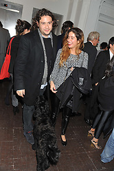 ADAM WAYMOUTH and CHARLOTTE HAYES-JONES at a party to celebrate the launch of the new gallery Pace at 6 Burlington Gardens, London on 3rd October 2012.