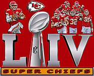 Kansas City Chiefs Super Bow LIV Champions.