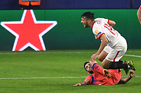SEVILLE, SPAIN - DECEMBER 02: Oscar Rodriguez of FC Sevilla and Christian Pulisic of Chelsea FC during the UEFA Champions League Group E stage match between FC Sevilla and Chelsea FC at Estadio Ramon Sanchez-Pizjuan on December 2, 2020 in Seville, Spain. (Photo by Juan Jose Ubeda/MB Media)