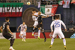 March 22, 2019 - San Diego, CA, U.S. - SAN DIEGO, CA - MARCH 22: Chile midfielder Pedro Pablo Hern‡ndez and Mexico midfielder Luis Rodriguez (28) jump for the ball during the International match between the Mexico National Team and Chile on March 22, 2019 at SDCCU Stadium in San Diego, CA.(Photo by Alan Smith/Icon Sportswire) (Credit Image: © Alan Smith/Icon SMI via ZUMA Press)
