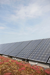 Solar panel on roof photovoltaic energy