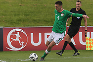 Oisin Mcentee of Republic of Ireland (4) attempts to cross the ball during the UEFA European Under 17 Championship 2018 match between Bosnia and Republic of Ireland at Stadion Bilino Polje, Zenica, Bosnia and Herzegovina on 11 May 2018. Picture by Mick Haynes.