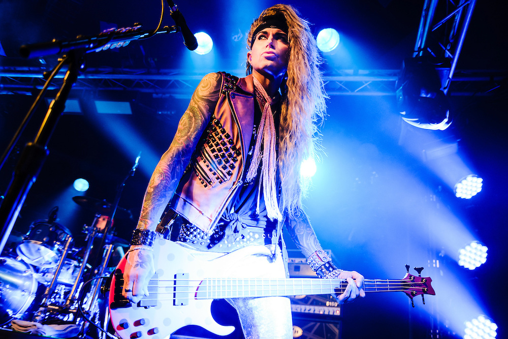 Steel Panther performing live at the Den Atelier concert venue in Luxembourg, Europe on February 8, 2014