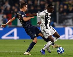 November 8, 2018 - Turin, Italy - Blaise Matuidi (R) of Juventus and Ander Herrera of Manchester United vie for the ball during the Group H match of the UEFA Champions League between Juventus FC and Manchester United FC on November 7, 2018 at Juventus Stadium in Turin, Italy. (Credit Image: © Mike Kireev/NurPhoto via ZUMA Press)