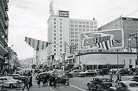 1946 Looking west on Hollywood Blvd. at Vine St.