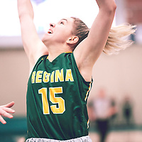 1st year guard, Madeleine Tell (15) of the Regina Cougars during the Women's Basketball Home Game on Sat Dec 01 at Centre for Kinesiology,Health and Sport. Credit: Arthur Ward/Arthur Images