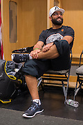 DALLAS, TX - MARCH 14:  Johny Hendricks waits backstage before his fight against Matt Brown during UFC 185 at the American Airlines Center on March 14, 2015 in Dallas, Texas. (Photo by Cooper Neill/Zuffa LLC/Zuffa LLC via Getty Images) *** Local Caption *** Johny Hendricks