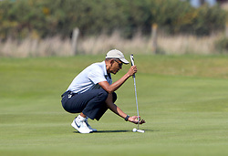 Former US President Barack Obama during a round of golf on the Old Course at St Andrews during a Visit to Scotland. PRESS ASSOCIATION Photo. Picture date:Friday May 26, 2017. Photo credit should read: Andrew Milligan/PA Wire.