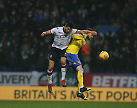 Leeds United's Mateusz Klich and Bolton Wanderers' Jason Lowe<br /> <br /> Photographer Stephen White/CameraSport<br /> <br /> The EFL Sky Bet Championship - Bolton Wanderers v Leeds United - Saturday 15th December 2018 - University of Bolton Stadium - Bolton<br /> <br /> World Copyright © 2018 CameraSport. All rights reserved. 43 Linden Ave. Countesthorpe. Leicester. England. LE8 5PG - Tel: +44 (0) 116 277 4147 - admin@camerasport.com - www.camerasport.com