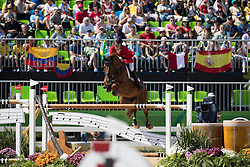 Beerbaum Ludger, GER, Casello<br /> owner of the horse of Jerome with arms in the air<br /> Olympic Games Rio 2016<br /> © Hippo Foto - Dirk Caremans<br /> 14/08/16