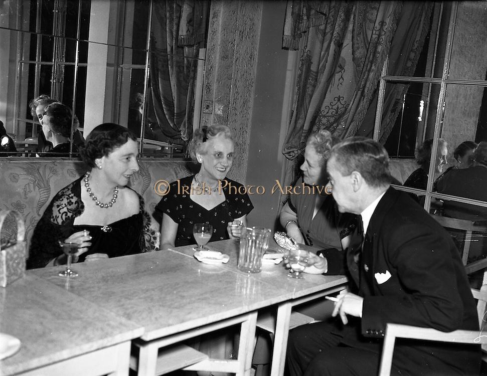 03/02/1953<br /> 02/03/1953<br /> 03 February 1953<br /> The Bohemians Music Club, Diamond Jubilee, Ladies Night Banquet at the Gresham Hotel, Dublin.