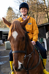 "Lasswade, Scotland, UK. 28th November 2019. Liberal Democrats  highlight ""two horse race in many seats"" at Lasswade horse riding school. Scottish Liberal Democrat Leader Willie Rennie and candidate for Berwickshire, Roxburgh & Selkirk, Jenny Marr, visited the Lasswade riding centre to highlight the Lib Dems' place as the lead contender in many seats across Scotland. Iain Masterton/Alamy Live News."