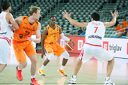05-09-2015 CRO: FIBA Europe Eurobasket 2015 Georgie - Nederland, Zagreb<br /> Charlon Kloof of Netherlands during basketball match between Georgia and Netherlands at Day 1 in Group C of FIBA Europe Eurobasket 2015, on September 5, 2015, in Arena Zagreb, Croatia. Photo by Vid Ponikvar / RHF