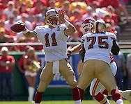 San Francisco quarterback Alex Smith (11) during action against Kansas City at Arrowhead Stadium in Kansas City, Missouri October 1, 2006.  The Chiefs beat the 49ers 41-0.