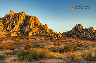 Jumbled granite boulders at Council Rocks in the Dragoon Mountains in the Coronado National Forest, Arizona, USA