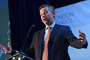 © Licensed to London News Pictures. 01/09/2012. Hammersmith, UK Michael Gove, Secretary of State for Education speaks at The Free Schools Conference at The West London Free school in Hammersmith today, 1st September 2012.  The event is aimed exclusively at 102 proposer groups that have received approval to open free schools. Photo credit : Stephen Simpson/LNP