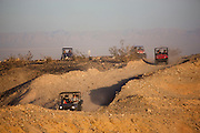 Recreation vehicles in Ocotillo Wells State Vehicular Recreation Area, California...