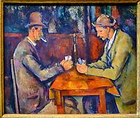 France, Paris (75), zone classée Patrimoine Mondial de l'UNESCO, Musée d'Orsay, Les Joueurs de cartes, Paul Cézanne // France, Paris, Orsay museum, Les Joueurs de cartes, Paul Cézanne
