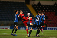 *** during the EFL Sky Bet League 1 match between Rochdale and Wigan Athletic at the Crown Oil Arena, Rochdale, England on 16 January 2021.
