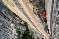 Kate Rutherford, Rostrum 5.11c, Yosemite, CA