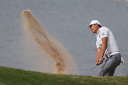 March 29, 2019 - Austin, Texas, United States - HaoTong Li hits out of a bunker on the 14th green during the third round of the 2019 WGC-Dell Technologies Match Play at Austin Country Club. (Credit Image: © Debby Wong/ZUMA Wire)
