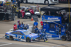 June 10, 2018 - Brooklyn, Michigan, United States of America - Ricky Stenhouse, Jr (17) makes a pit stop during the FireKeepers Casino 400 at Michigan International Speedway in Brooklyn, Michigan. (Credit Image: © Stephen A. Arce/ASP via ZUMA Wire)