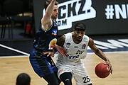 Basketball: Deutschland, 1. Bundesliga, Hamburg Towers - HAKRO Merlins Crailsheim, Hamburg, 10.01.2021<br /> Terry Allen (Towers, r.)<br /> © Torsten Helmke