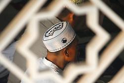June 15, 2018 - Cibitung, West Java, Indonesia - Muslims perform an Eid prayer as they celebrate the Eid Al Fitr at Baitul Ma'mur mosque, Wanasari Village, Cibitung, Bekasi regency, West Java. (Credit Image: © Aditya Irawan/NurPhoto via ZUMA Press)