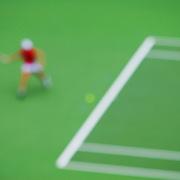 Abstract Impressions of Sport.Justine Henin, Tennis, Sydney