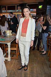 SOPHIE MOSS at a quiz night hosted by Zoe Jordan to celebrate the launch of her men's ZJKNITLAB collection held at The Larrick Pub, 32 Crawford Place, London on 20th April 2016.