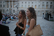 Jemima and Quentin Jones. Film Four and Somerset House host a Reception and open air screening of Close Encounters of a third Kind. Somerset House, 16 August 2005. ONE TIME USE ONLY - DO NOT ARCHIVE  © Copyright Photograph by Dafydd Jones 66 Stockwell Park Rd. London SW9 0DA Tel 020 7733 0108 www.dafjones.com