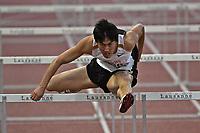 Friidrett<br /> Athletissima 2005 Lausanne<br /> 05.07.2005<br /> Foto: Dppi/Digitalsport<br /> NORWAY ONLY<br /> <br /> 110M HURDLES MEN - XIANG LIU (CHN) / WINNER
