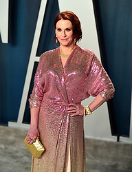 Megan Mullally attending the Vanity Fair Oscar Party held at the Wallis Annenberg Center for the Performing Arts in Beverly Hills, Los Angeles, California, USA.