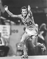 Fotball<br /> England <br /> Foto: Colorsport/Digitalsport<br /> NORWAY ONLY<br /> <br /> Trevor Francis - Detroit Express, celebrates his goal. Detroit Express v Houston 1979/80