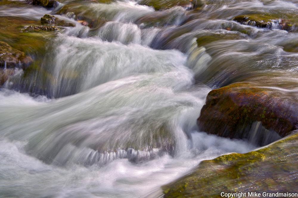 Kagawong Creek and rocky shoreline at Bridal Veil Falls. Manitoulin Island. <br />Kagawong<br />Ontario<br />Canada