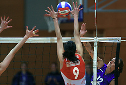 Svetlana Krstic of Hit Nova Gorica at 1st match of finals of 1st DOL women volleyball league between OK Hit Nova Gorica and OK Nova KBM Branik, Maribor played in OS Milojke Strukelj, on April 8, 2009, in Nova Gorica, Slovenia. Nova KBM Branik won 3:1. (Photo by Vid Ponikvar / Sportida)