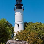 Key West lighthouse behind the fence