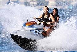 Bella Hadid Enjoys Jet Ski With Friends And Having Fun On A Yacht in Antibes, 20Th Of May, 2017. Photo by ABACAPRESS.COM