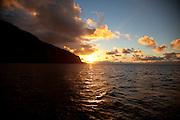 Sunset, Kalaupapa, North Shore, Molokai, Hawaii