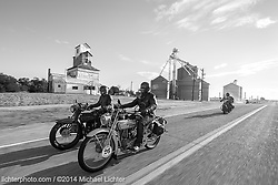 Andy and Thomas ride to the Pacific. MC Cannonball, CO. 2014<br /> <br /> Limited Edition Print from an edition of 20. Photo ©2014 Michael Lichter.