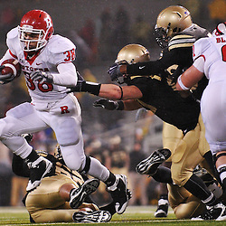 Oct 23, 2009; West Point, N.Y., USA; Rutgers running back Joe Martinek (38) rushes the ball during Rutgers' 27 - 10 victory over Army at Michie Stadium.