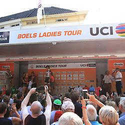 29-08-2017: Wielrennen: Boels Ladies Tour: Wageningen: Sfeer: Podium: Ceremonie