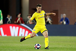 May 15, 2019 - Foxborough, MA, U.S. - FOXBOROUGH, MA - MAY 15: Chelsea FC defender Cesar Azpilicueta (28) passes during the Final Whistle on Hate match between the New England Revolution and Chelsea Football Club on May 15, 2019, at Gillette Stadium in Foxborough, Massachusetts. (Photo by Fred Kfoury III/Icon Sportswire) (Credit Image: © Fred Kfoury Iii/Icon SMI via ZUMA Press)