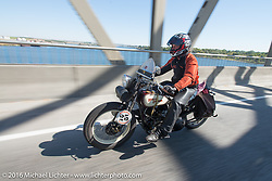 Scott Byrd riding his 1931 Harley-Davidson V during Stage 15 (244 miles) of the Motorcycle Cannonball Cross-Country Endurance Run, which on this day ran from Lewiston, Idaho to Yakima, WA, USA. Saturday, September 20, 2014.  Photography ©2014 Michael Lichter.