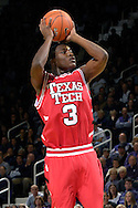 Texas Tech guard Martin Zeno puts up a shot in the first half against Kansas State at Bramlage Coliseum in Manhattan, Kansas, January 8, 2007.  Texas Tech defeated K-State 62-52.
