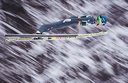 03.02.2019, Heini Klopfer Skiflugschanze, Oberstdorf, GER, FIS Weltcup Skiflug, Oberstdorf, im Bild Philipp Aschenwald (AUT) // Philipp Aschenwald of Austria during his Jump of FIS Ski Jumping World Cup at the Heini Klopfer Skiflugschanze in Oberstdorf, Germany on 2019/02/03. EXPA Pictures © 2019, PhotoCredit: EXPA/ JFK